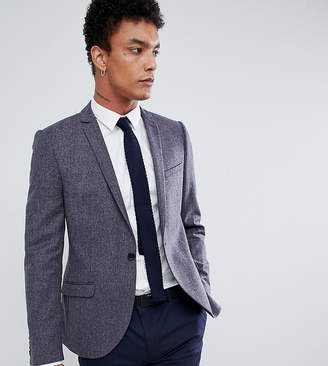 Heart & Dagger woven in england skinny blazer with lux trim