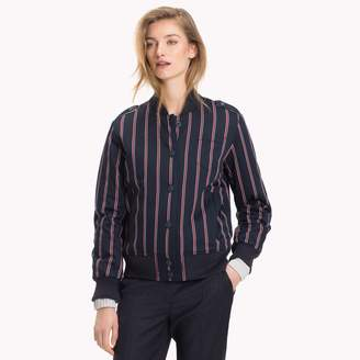 Tommy Hilfiger Stripe Quilted Bomber