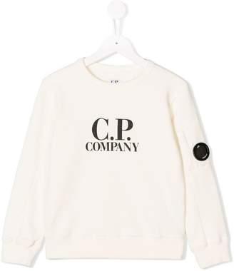 C.P. Company Kids logo print sweatshirt