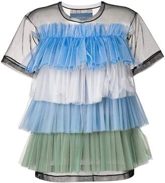 Viktor & Rolf striped layered tulle T-shirt