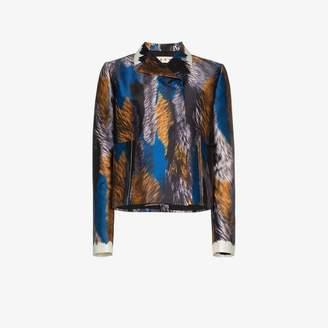 Marni printed cropped silk jacket
