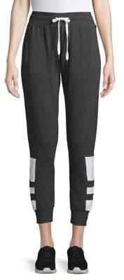 Betsey Johnson Striped Fleece Cropped Sweatpants