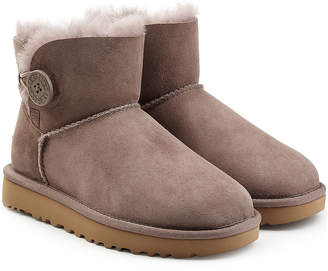 UGG Mini Bailey Button Shearling Lined Suede Boots