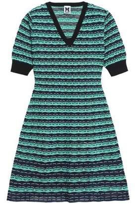 M Missoni Printed Crochet-Knit Mini Dress
