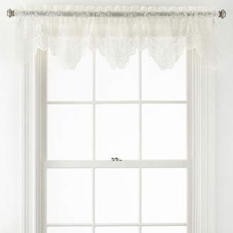Home ExpressionsTM Jessica Lace Rod-Pocket Tailored Valance