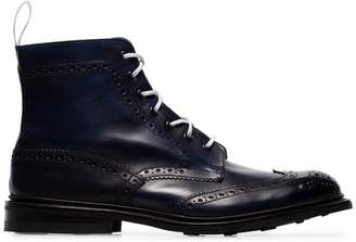 Tricker's Trickers blue stow leather country boots