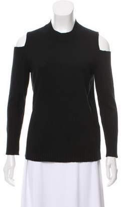 Iris & Ink Cashmere Cold-Shoulder Sweater
