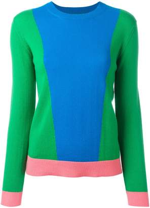 Parker Chinti & cashmere colour-block jumper