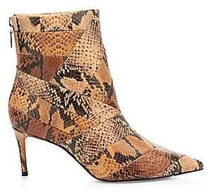 Schutz Women's Samaira Snakeskin-Embossed Leather Ankle Boots