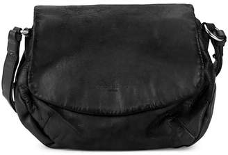 Liebeskind Berlin Debossed Logo Leather Saddle Bag