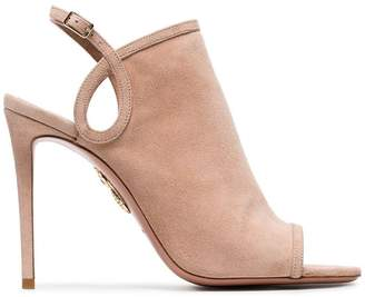 Aquazzura Pink Gaya 105 suede sandals