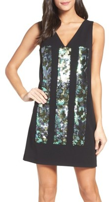 Women's Vera Wang Sequin Shift Dress $248 thestylecure.com
