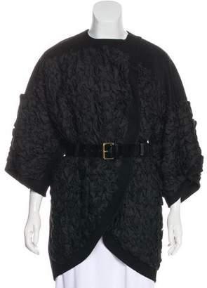 Louis Vuitton Ruffled Wool Coat