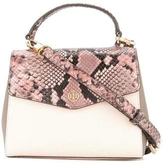 Tory Burch Robinson mixed-materials top-handle satchel