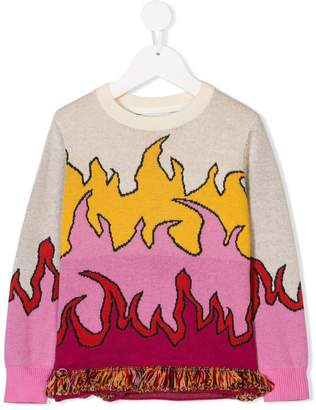 Stella McCartney flame design jumper