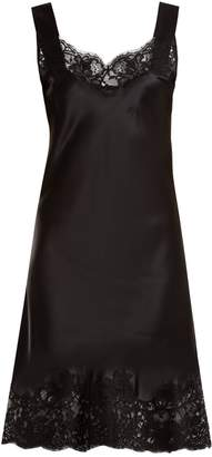Givenchy Lace-trimmed silk-satin cami dress