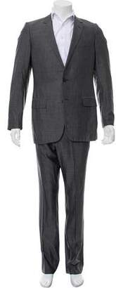 Christian Dior Strip Wool Two-Piece Suit