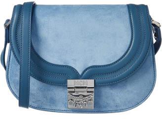 MCM Trisha Suede Shoulder Bag