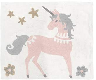 JoJo Designs Sweet Unicorn Hand-Tufted Cotton Blush Pink/Gray Area Rug