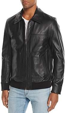 Vaughn Leather Bomber Jacket