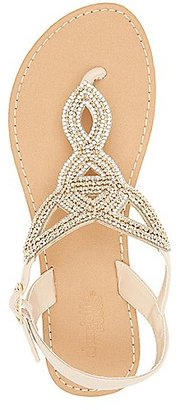 Rhinestone-Embellished Looped Thong Sandals $19.99 thestylecure.com