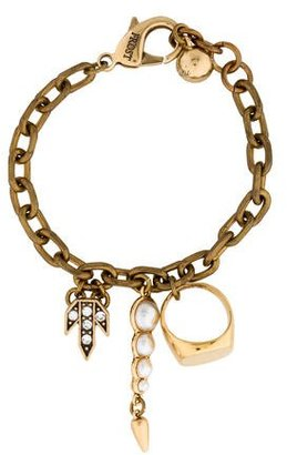 Lulu Frost Chain-Link Charm Bracelet $95 thestylecure.com