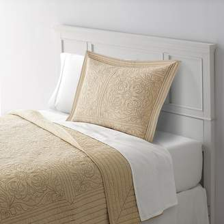 Home Classics Anna Contrast Stitch Quilted Sham