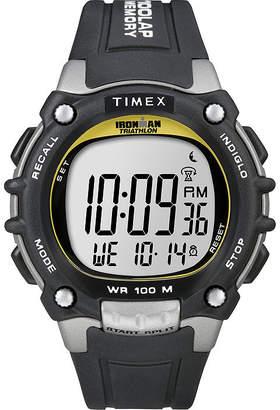 Timex Ironman Mens Black Resin Strap 100-Lap Watch T5E2319J
