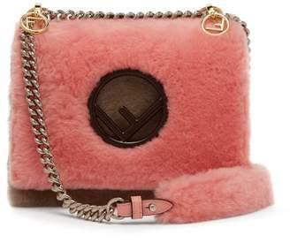 Fendi Kan I Shearling Cross Body Bag - Womens - Pink Multi