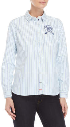 U.S. Polo Assn. Striped Embroidered Patch Shirt