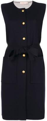 Tory Burch sleeveless fitted cardi-coat
