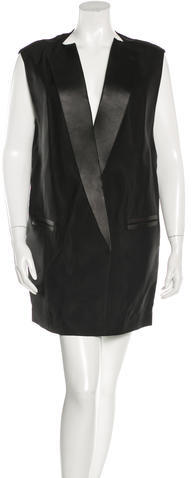 3.1 Phillip Lim3.1 Phillip Lim Leather-Trimmed Blazer Dress