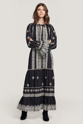 Beulah London Pia Embroidered Midi Dress