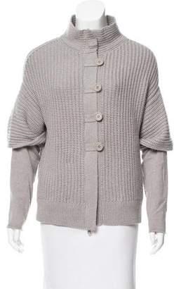 Brunello Cucinelli Rib Knit Cashmere Cardigan
