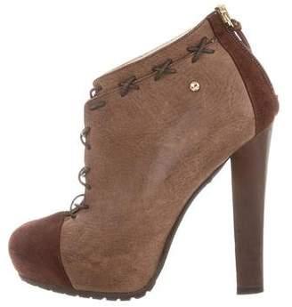 Just Cavalli Platform Cap-Toe Ankle Boots