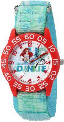 Disney Girl's 'Ariel' Quartz Plastic and Nylon Automatic Watch, Color (Model: W002903)