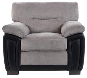 Global Furniture USA Global Furniture Oat/Black Two Tone Chair