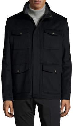 Hart Schaffner Marx Wool Stand Collar Field Jacket