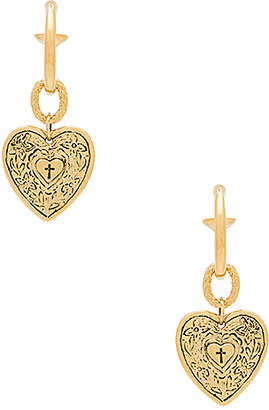 Vanessa Mooney The Angelica Heart Hoop Earrings