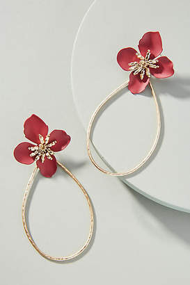 Anthropologie Mireille Floral Drop Earrings