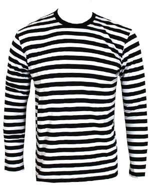 Grindstore Men's Striped and White Long Sleeved T-shirt
