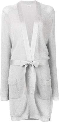 Laneus waist-tied fitted cardigan