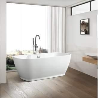 "Vanity Art 59"" x 30"" Freestanding Soaking Bathtub"