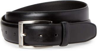 Trafalgar Black Feathered Edge Leather Belt