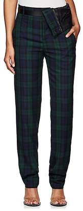 Y/Project Women's Plaid Twill Asymmetric-Waist Trousers
