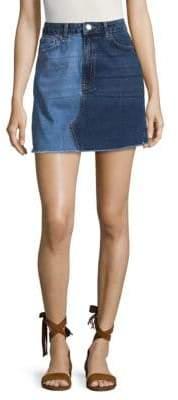 French Connection Allene Cotton Denim Skirt