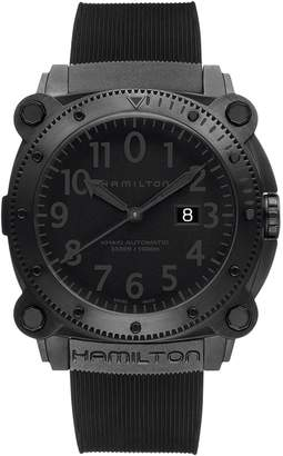 Hamilton Khaki BelowZero Automatic Rubber Strap Watch, 46mm