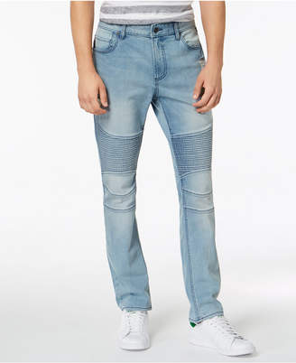 American Rag Men's Slim-Fit Stretch Destroyed Vapor Moto Jeans, Created for Macy's
