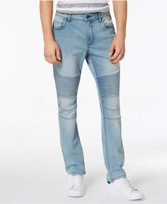 American Rag Men's Slim-Fit Stretch Destroyed Moto Jeans