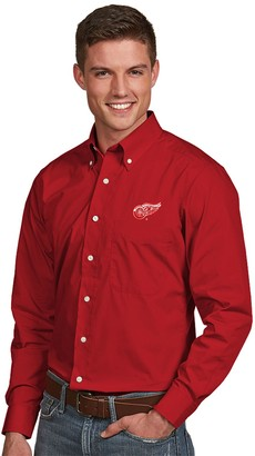 Antigua Men's Detroit Red Wings Dynasty Button-Down Shirt